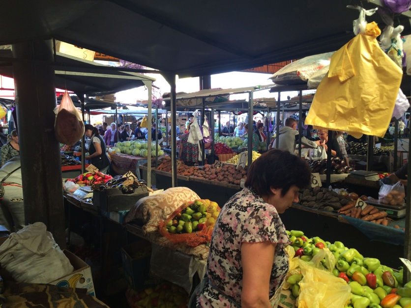The food section of the market.
