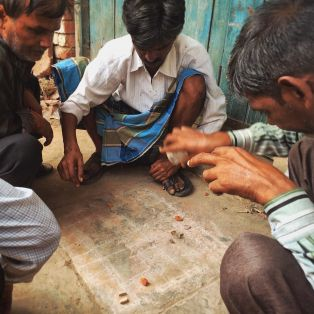 Board game in Agra, India