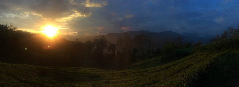 Sunset in the east of Nepal.