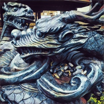 Statue of twin dragons at SKKU University