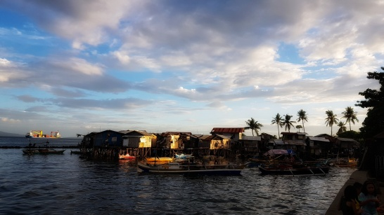 Houses of fisher and poor people, floating above the waters.