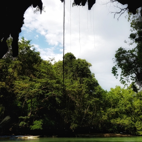 The underwater river cave in Sabang.